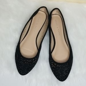 Kelly and katie sueded perforated flats